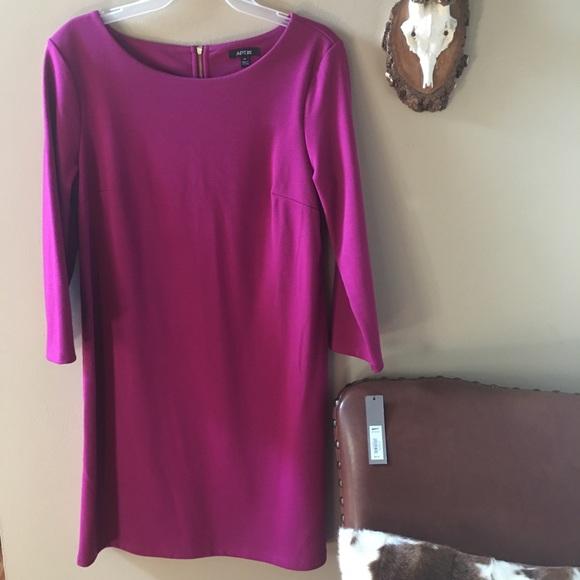 Apt. 9 Dresses & Skirts - Apt 9 Fuchsia Shift Dress NWT